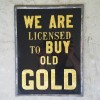 Reverse Painted GOLD Sign