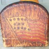 Patriotic Folk Art Pyrography Bookends Stand