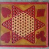 Folk Art Red & Yellow Game Board