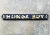 Folk Art HONGA BOY Sign