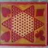 Folk Art Red & Yellow Game Board