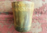 18th Century Incised Horn Cup