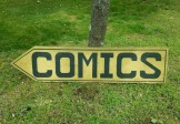 Folk Art COMICS Sign