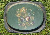Mid-19C Floral Tole Tray