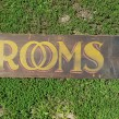 Double Sided Folk Art Hotel ROOMS Sign