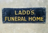 1920 Funeral Parlor Sign