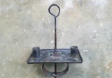 1780-1820 Tin & Iron Sand Weighed Candle Stand