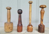 Group of Four 18C Wood Mashers
