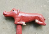Folk Art Razorback Pig Cane