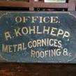 19C Metal Contractor Sign