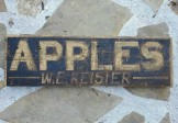 APPLES ROADSIDE SIGN