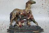18C Folk Art Carving – Shoeing a Horse