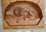 Mahogany Lion of Lucerne Plaque