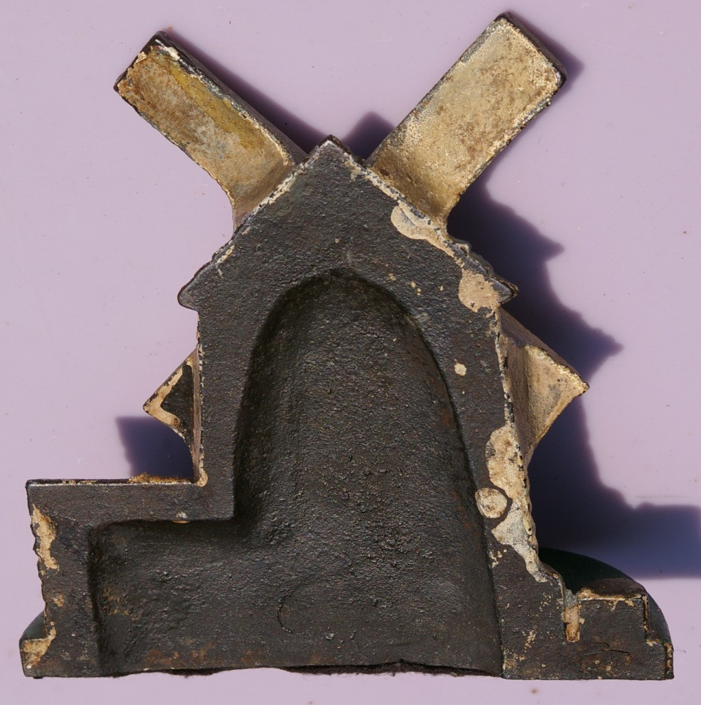 Cast iron windmill doorstop zachary miller antiques - Cast iron doorstop ...